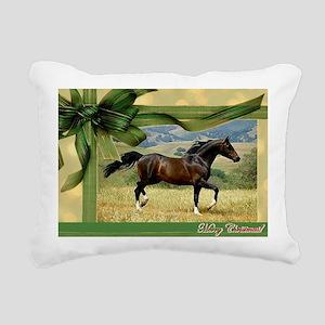 Morgan Horse Christmas Rectangular Canvas Pillow