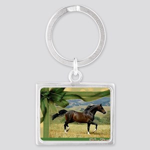 Morgan Horse Christmas Landscape Keychain