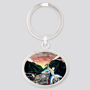 Motorcycle Dream Oval Keychain