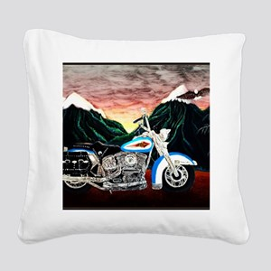 Motorcycle Dream Square Canvas Pillow