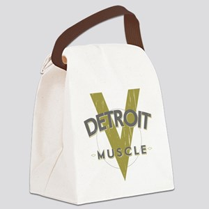 Detroit Muscle copy Canvas Lunch Bag