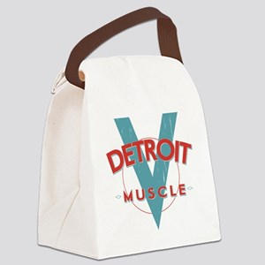 Detroit Muscle red n blue Canvas Lunch Bag