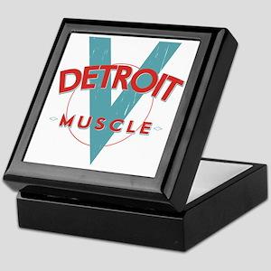 Detroit Muscle red n blue Keepsake Box