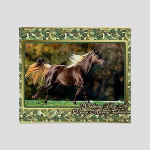 Paso Fino Horse Christmas Throw Blanket