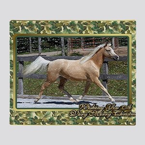 Paso Fino Horse Christmas Throw Blanket