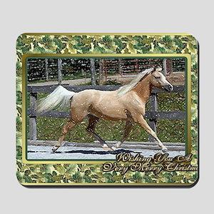 Paso Fino Horse Christmas Mousepad