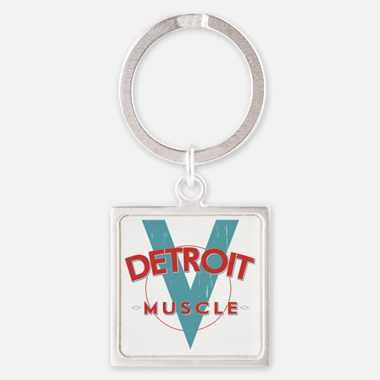 Detroit Muscle red n blue Square Keychain