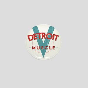 Detroit Muscle red n blue Mini Button