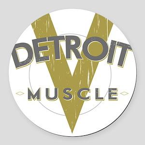 Detroit Muscle copy Round Car Magnet