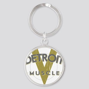 Detroit Muscle copy Round Keychain