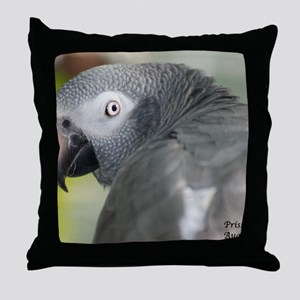 The Timothy African Grey Throw Pillow