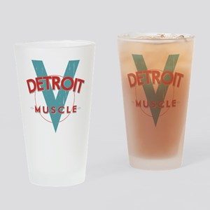 Detroit Muscle red n blue Drinking Glass