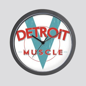 Detroit Muscle red n blue Wall Clock