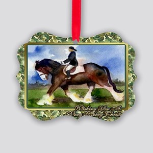 Clydesdale Draft Horse Christmas Picture Ornament