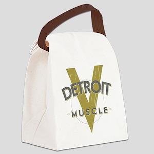 Detroit Muscle copy Canvas Lunch Bag