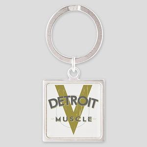 Detroit Muscle copy Square Keychain