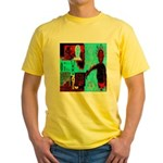 Alchemical Man Discovers Syne Yellow T-Shirt