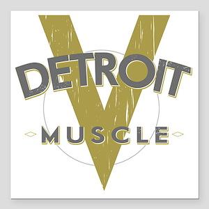 """Detroit Muscle copy Square Car Magnet 3"""" x 3"""""""