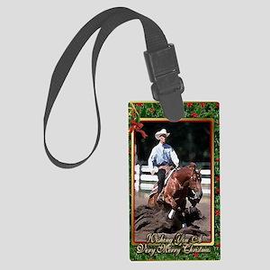 Quarter Horse Reining Christmas Large Luggage Tag