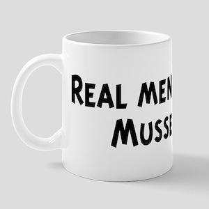 Men eat Mussel Mug