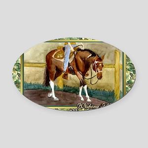 Paint Horse Western Pleasure Chris Oval Car Magnet