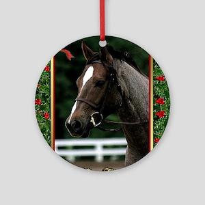 Welsh Pony Christmas Round Ornament