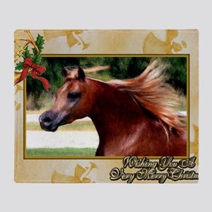 Arabian Horse Christmas Throw Blanket