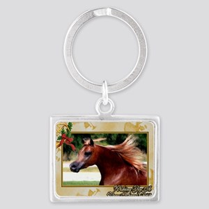 Arabian Horse Christmas Landscape Keychain