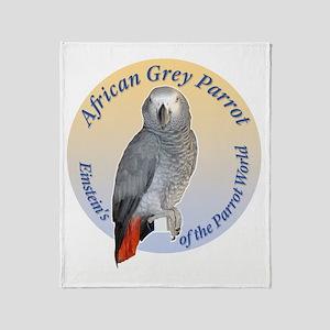 Einstein of the Parrot World (Africa Throw Blanket
