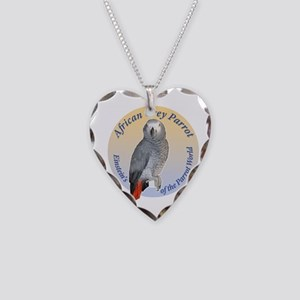 Einstein of the Parrot World  Necklace Heart Charm