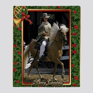 Peruvian Paso Horse Christmas Throw Blanket