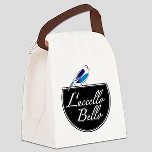 Luccello Bello   blue Canvas Lunch Bag