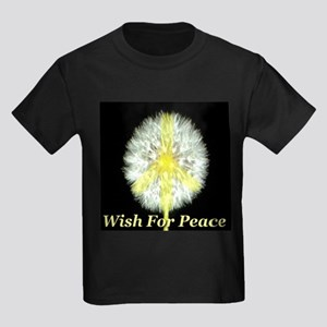 Wish For Peace Kids Dark T-Shirt
