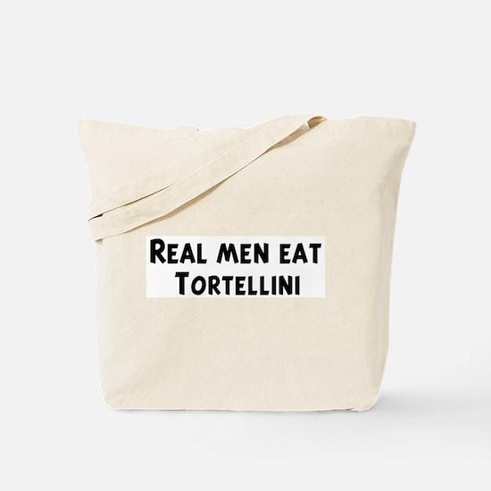 Men eat Tortellini Tote Bag