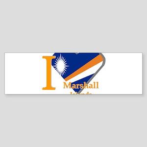 I love Marshall Islands Bumper Sticker
