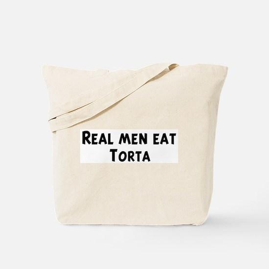 Men eat Torta Tote Bag