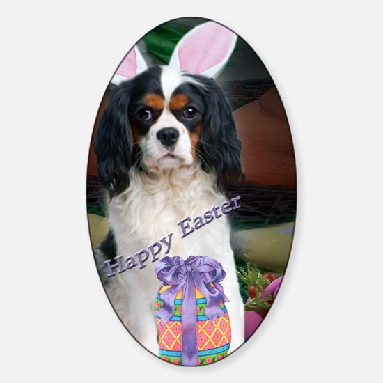 Cavalier King Charles Happy Easter  Sticker (Oval)