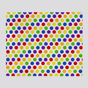 Multi Color Small Polka Dots (2) Throw Blanket