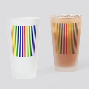 Retro Rainbow Stripes Drinking Glass