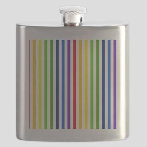Retro Rainbow Stripes Flask