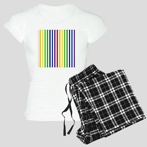 Retro Rainbow Stripes Women's Light Pajamas