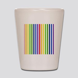 Retro Rainbow Stripes Shot Glass
