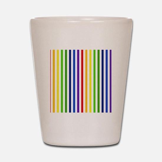 Retro Rainbow Stripes Shot Glass