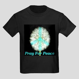 Pray For Peace Kids Dark T-Shirt