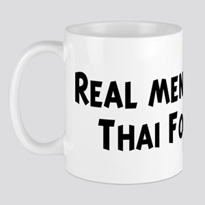 Men eat Thai Food Mug