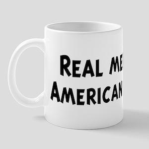 Men eat American Cheese Mug