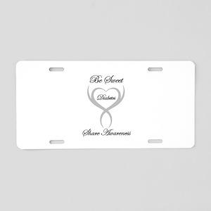 Be Sweet Diabetes Awareness Aluminum License Plate