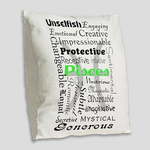 Pisces Burlap Throw Pillow