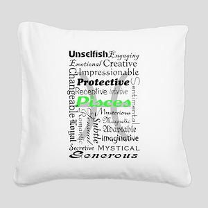 Pisces Square Canvas Pillow