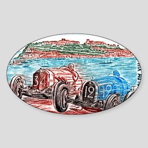 Vintage 1979 Monaco Grand Prix Race Sticker (Oval)